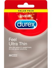 Prezervatyvai Durex Feel Ultra Thin 30 vnt. dėžutė