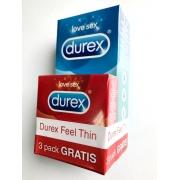 Durex Classic 12vnt + 3vnt  Durex Feel Thin DOVANA