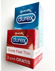 Prezervatyvai Durex Classic 12vnt + 3vnt  Durex Feel Dovana!