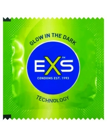 Prezervatyvai EXS Glow in the Dark