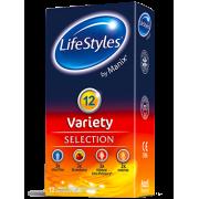 LIFESTYLES VARIETY 12 vnt. dėžutė