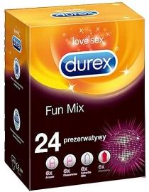 Durex FUN MIX prezervatyvų rinkinys 24vnt.