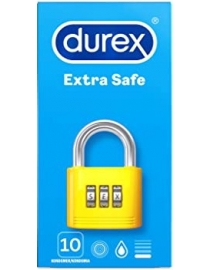 Prezervatyvai Durex Extra Safe 10 vnt. dėžutė