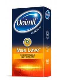 Prezervatyvai LifeStyles-Unimil Max Love 12 vnt.