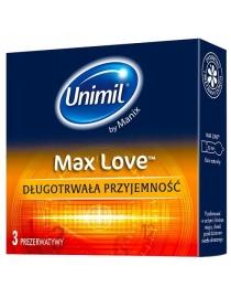 Prezervatyvai LifeStyles-Unimil Max Love 3vnt.
