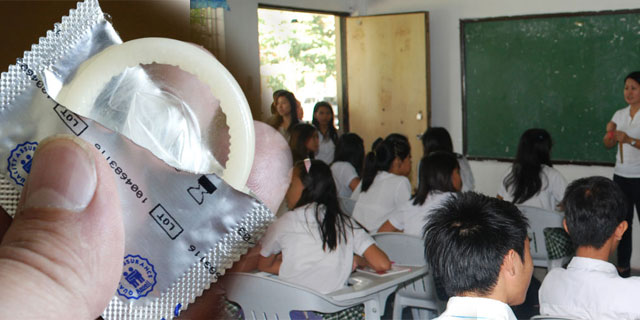 prezervatyvai mokyklose